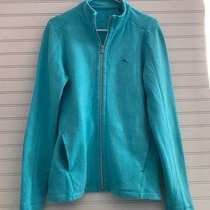 Tommy Bahama blue zip jacket